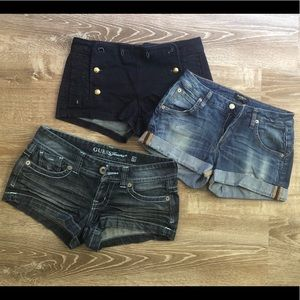 LOT of three denim shorts! See below for details